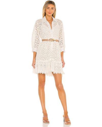 Белое платье с поясом на бретелях Sundress