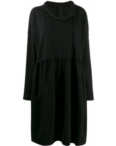 Свободное вязаное платье макси с воротником Rundholz Black Label