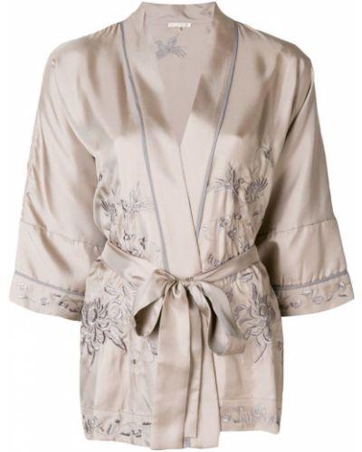 Блузка с вышивкой шелковая Gold Hawk