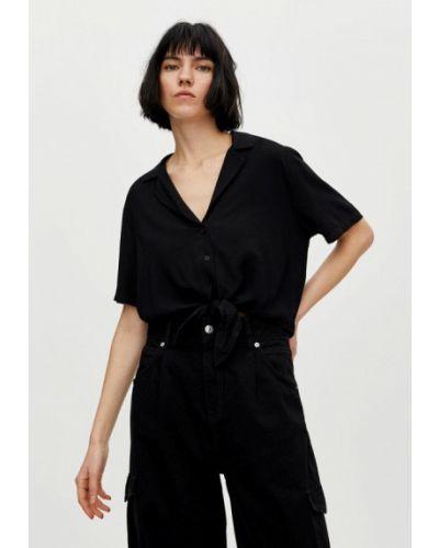 Блузка с коротким рукавом черный Pull&bear