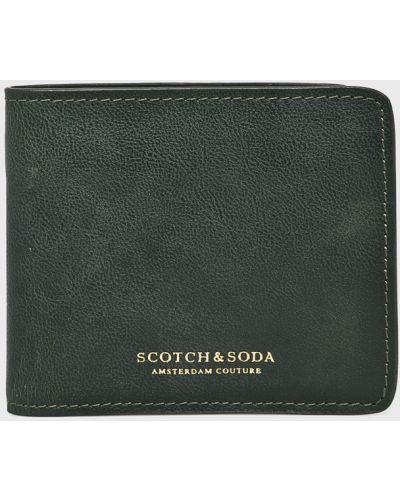 Кошелек кожаный зеленый Scotch & Soda