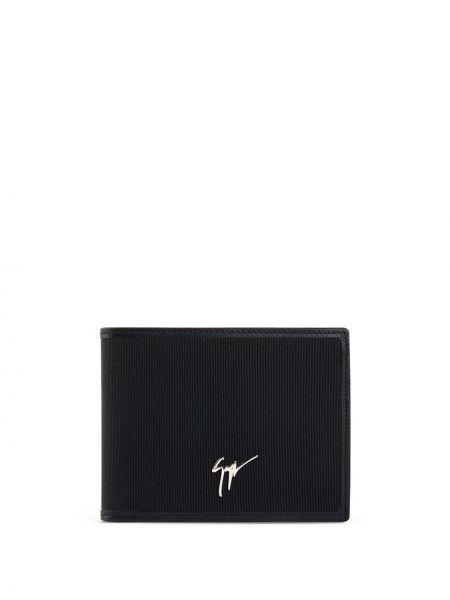 Skórzany czarny portfel skórzany z gniazdem Giuseppe Zanotti
