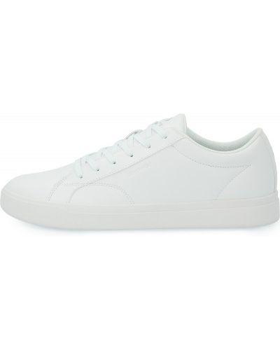 Кожаные белые кеды на шнуровке Demix
