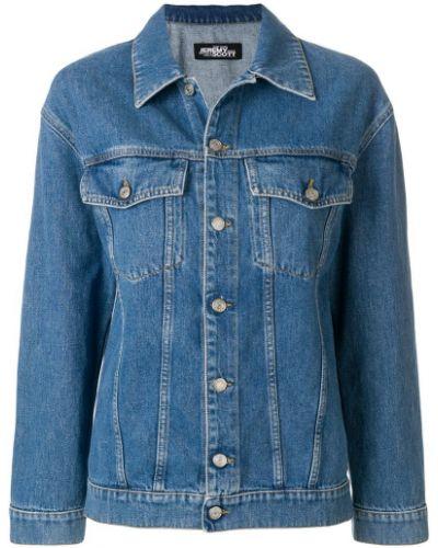 Синяя джинсовая куртка свободного кроя на пуговицах Jeremy Scott