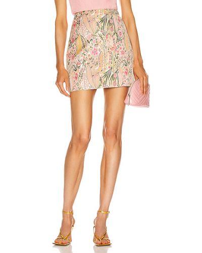 Różowa spódnica mini z wiskozy Givenchy