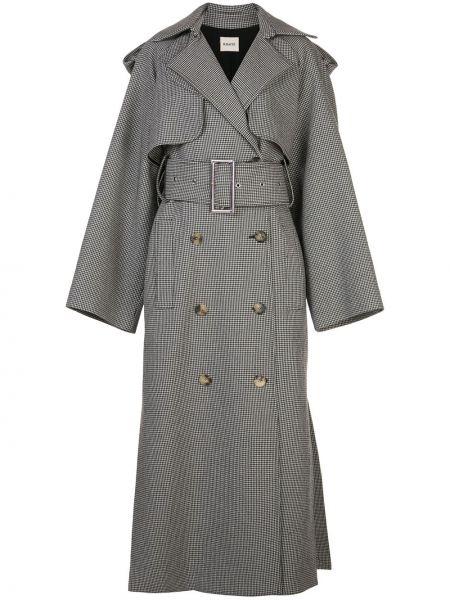 Шерстяной длинное пальто на пуговицах свободного кроя Khaite