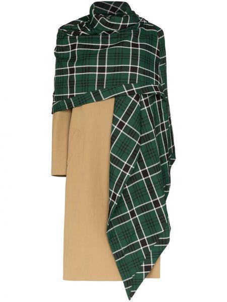 Brązowy płaszcz bawełniany z długimi rękawami Rosie Assoulin