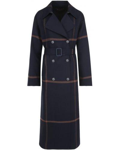 Пальто двубортное с поясом Loro Piana
