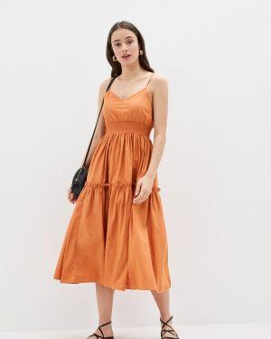 Коричневое платье Selected Femme