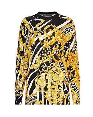 Пуловер желтый Versace
