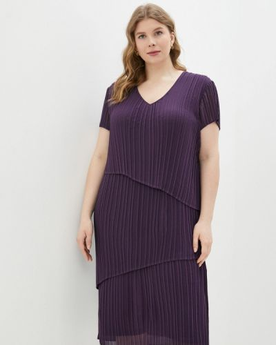 Повседневное фиолетовое платье Samoon By Gerry Weber