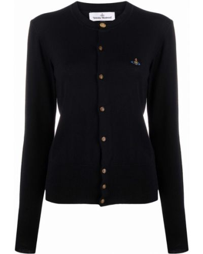 Черная кофта на пуговицах Vivienne Westwood