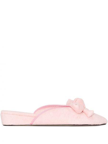 Розовые кожаные слиперы без застежки Olivia Morris At Home