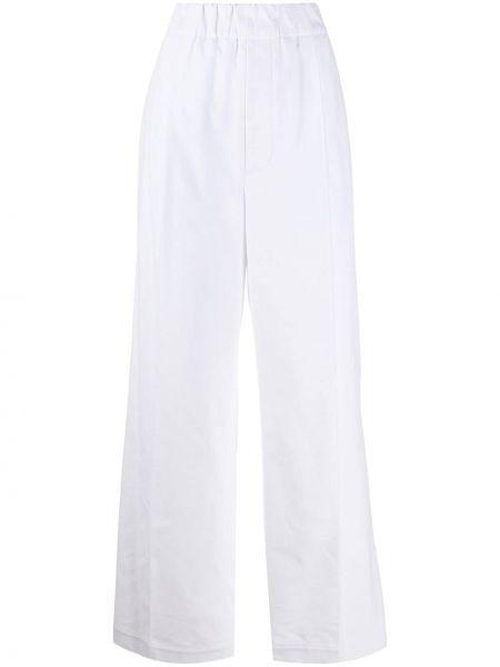 Свободные белые брюки свободного кроя с поясом Jejia