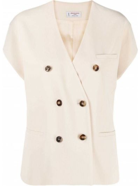Пиджак двубортный с короткими рукавами с карманами Alberto Biani