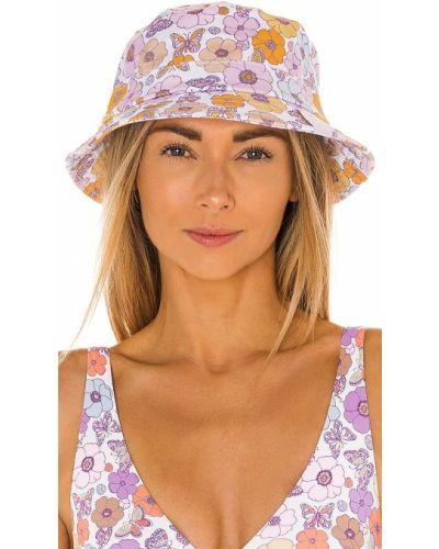 Хлопковая белая шапка с разрезом Frankies Bikinis