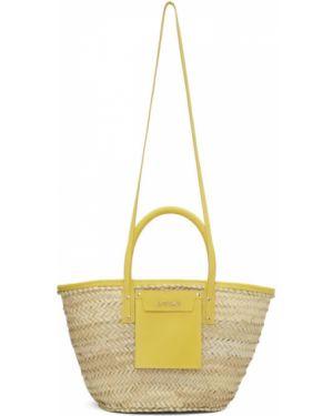 Желтая соломенная сумка-тоут Jacquemus