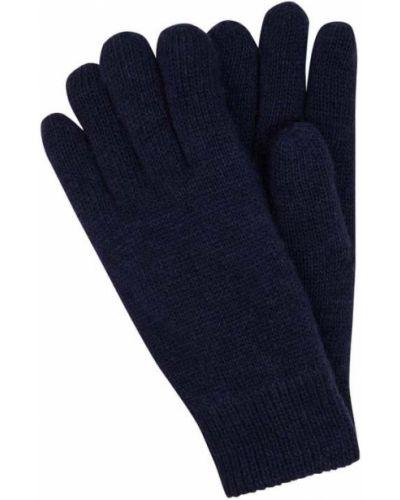 Niebieskie rękawiczki wełniane Barbour
