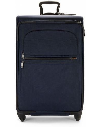 Кожаный чемодан с карманами на бретелях Tumi