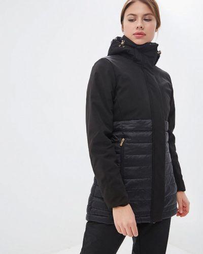 Утепленная куртка весенняя черная Luhta
