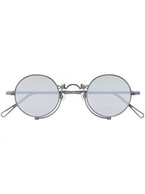 Черные солнцезащитные очки круглые металлические Matsuda