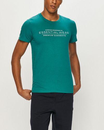 Zielona piżama bawełniana z printem Henderson