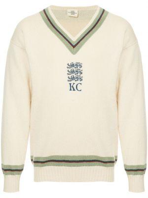 Prążkowany sweter moherowy z długimi rękawami Kent & Curwen