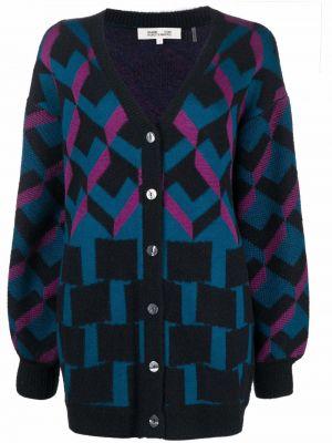 Czarny sweter z dekoltem w serek Dvf Diane Von Furstenberg