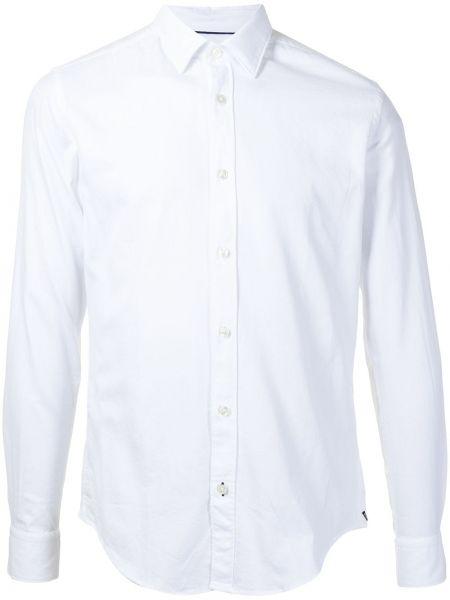 Bawełna z rękawami klasyczna koszula z mankietami Boss