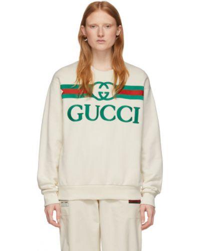 Свитшот с вышивкой махровый Gucci