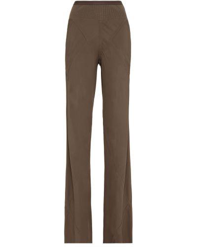 Prążkowane spodnie bawełniane rozkloszowane Rick Owens