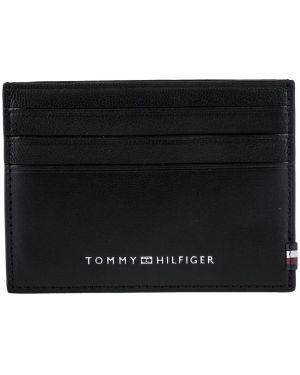 Визитница кожаная черная Tommy Hilfiger