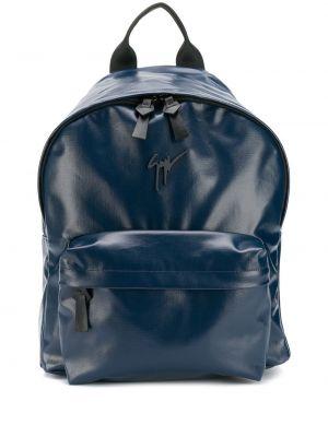 Plecak skórzany - niebieski Giuseppe Zanotti