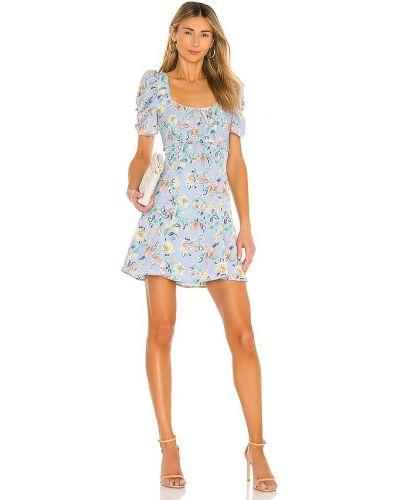 Синее платье с подкладкой с оборками Likely