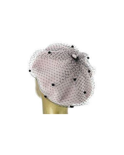 Розовый берет шерстяной Emporio Armani