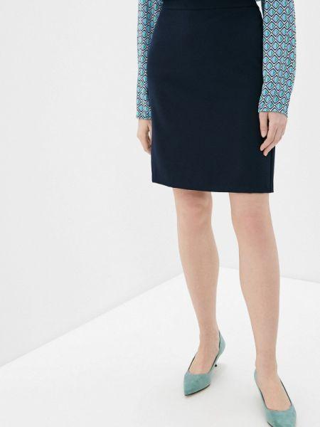 Синяя юбка карандаш с рукавом 3/4 Betty Barclay