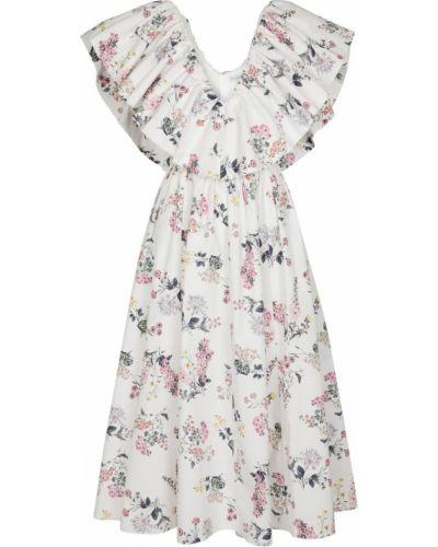 Белое хлопковое платье Emilia Wickstead