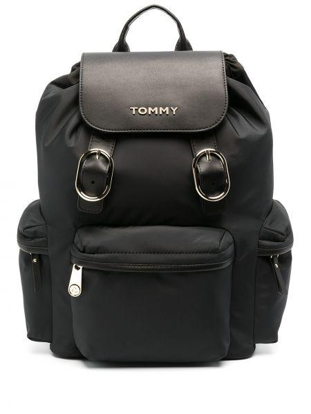 Золотистая черная сумка металлическая Tommy Hilfiger