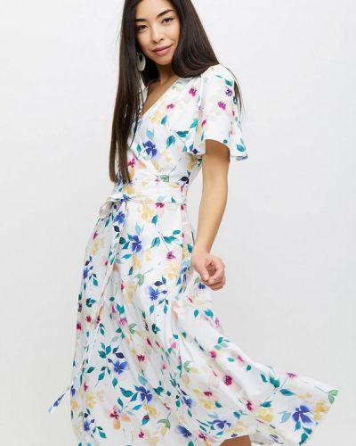 Платье с запахом - белое Cardo