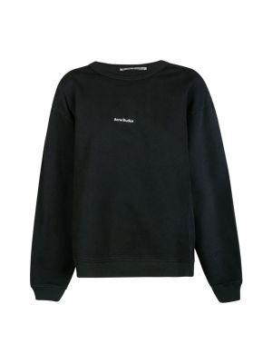 Bluza z nadrukiem z printem - czarna Acne Studios