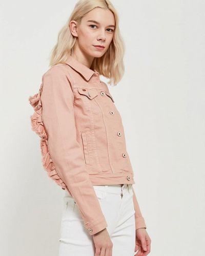 Розовая джинсовая куртка Only