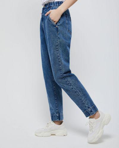 Синие с завышенной талией джинсы на резинке Sela