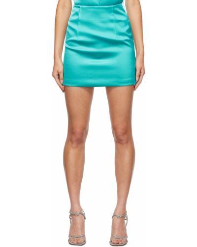 Satynowa spódnica - niebieska Gauge81