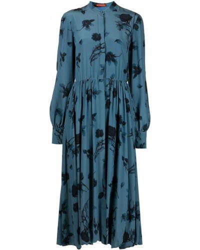 Шелковое платье макси - синее Altuzarra