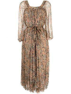 Платье макси длинное - коричневое Mes Demoiselles