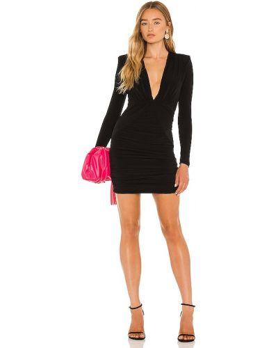 Czarna sukienka z długimi rękawami Nookie