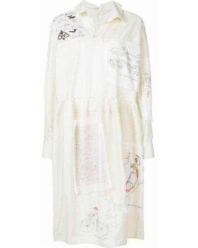 Платье платье-рубашка с V-образным вырезом Marni