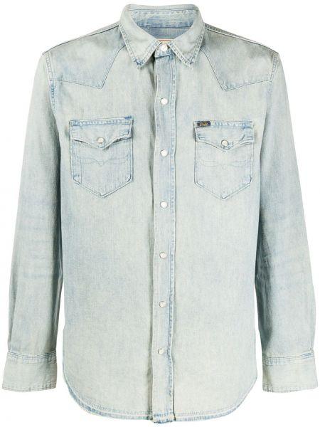 Koszula z długim rękawem dżinsowa długa Ralph Lauren