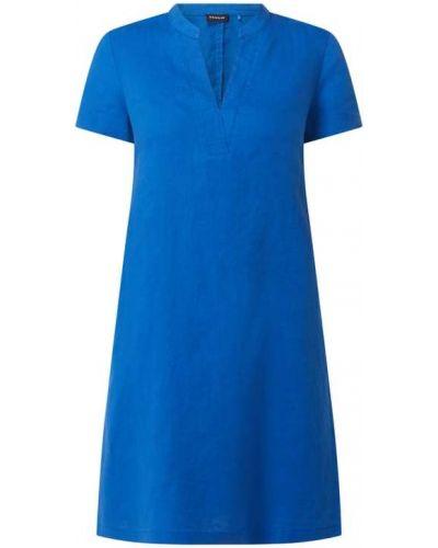 Niebieska sukienka mini krótki rękaw Taifun