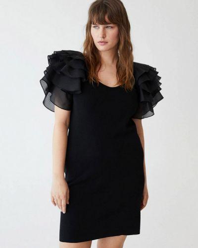 Повседневное черное платье Violeta By Mango